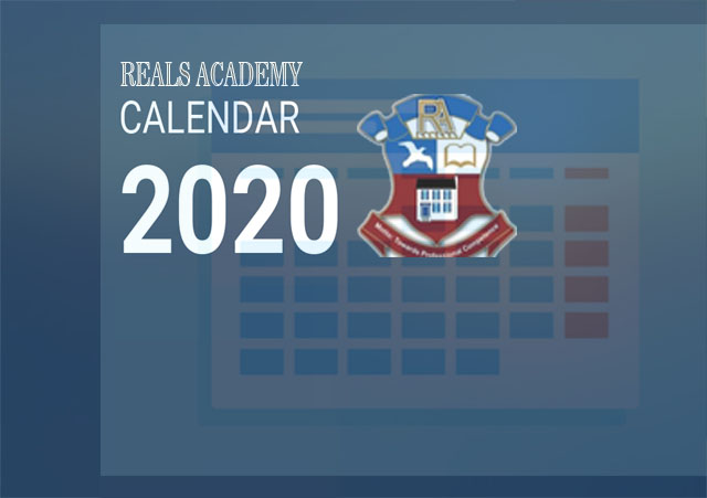 Reals Academy 2020 Calendar